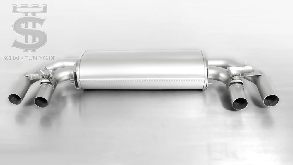 Sport silencer centered for left / right system, with 2 integrated flaps